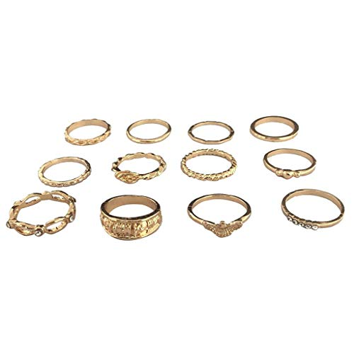 le Rings for Women Girls Stackable Midi Joint Finger Ring Set (A) ()
