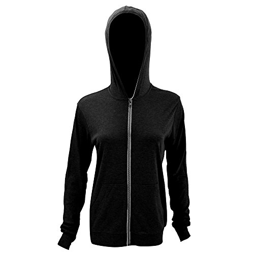 Price comparison product image Bella + Canvas Womens / Ladies Triblend Lightweight Hooded Sweatshirt / Hoodie (XL) (Solid Black Triblend)