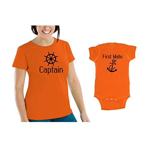 we-match-captain-first-mate-matching-womens-scoop-neck-t-shirt-baby-bodysuit-set-24m-bodysuit-womens