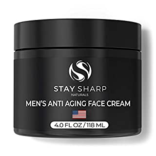 Anti Aging Face Cream for Men - 4 oz Mens Face Moisturizer and Facial Lotion for Younger Looking Wrinkle Free Skin