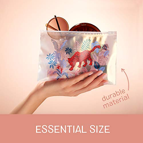 Ziploc Boho Collection Accessory Bags, Reusable for Organization and Travel, 5 Essential and 5 Skinny, 10 Total Bags