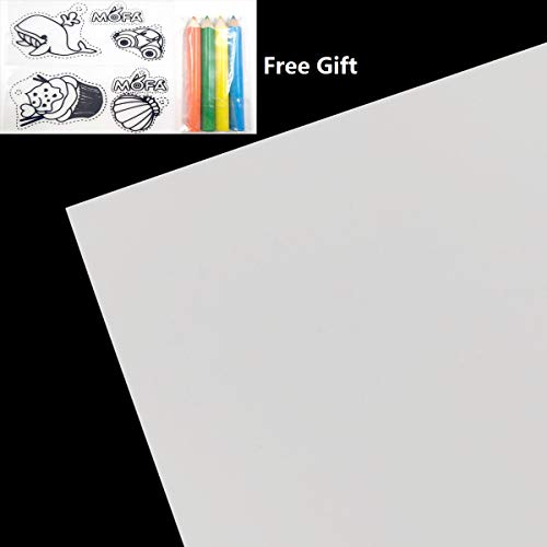 (mofa emboss 8 Pcs A4 Heat Shrink Film,Fine Frosted Surface Heat-Shrink Sheets,Printable with an Inkjet,Great for DIY Pendant,Bracelet,Key Ring,Decoration and Etc (Printable White))
