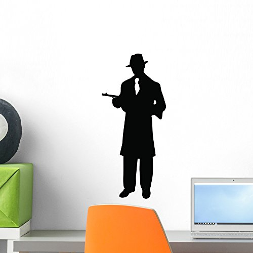 Wallmonkeys Gangster Wall Decal Peel and Stick Graphic (18 in H x 12 in W) WM187640 ()