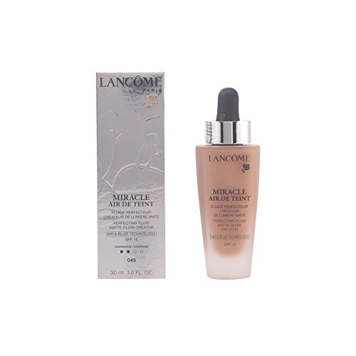 Lancome Miracle Air De Teint Perfecting Fluid Matte Glow Creator Spf 15, No. 045 Sable Be, 1 Ounce