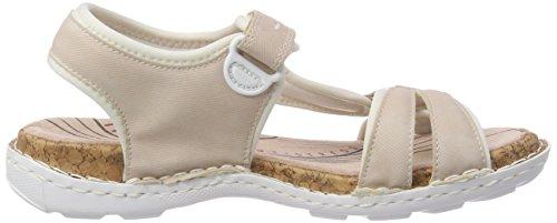 Rieker Women's 65479 Closed Toe Sandals, Rot (Rosa) Pink (Rose/Reinweiss 31)