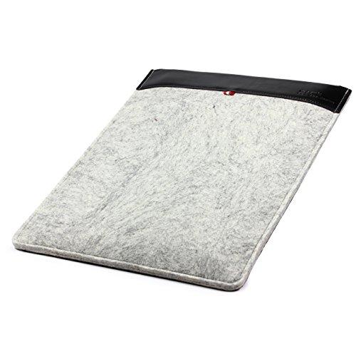 Original Urcover® Handgefertige Fashion Designer Mac-book Pro 15 Zoll Tasche Hülle Tasche Sleeve dpark Style Notebooktasche Laptophülle 15 Zoll Dunkel Grau Braun Hell Grau Schwarz M19QsDy