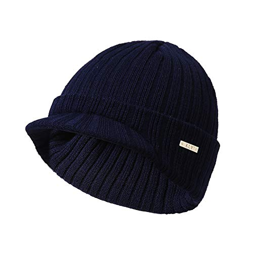 Gysad Gorros poliacrilonitrilo Boina de Mujer Mantener Caliente de Sombrero Fibra Unisex Punto Sombrero claro Invierno de Gris SqtEr4wS