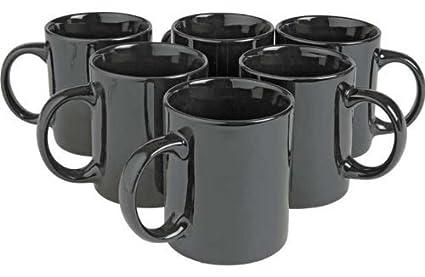 Argos Value Range 6 Piece Mug Set Black