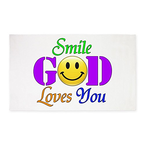 3' x 5' Area Rug Smile God Loves You by Royal Lion