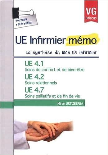 Livres gratuits UE 4.1 Soins de confort et de bien-être, UE 4.2 Soins relationnels, UE 4.7 Soins palliatifs et de fin de vie pdf epub