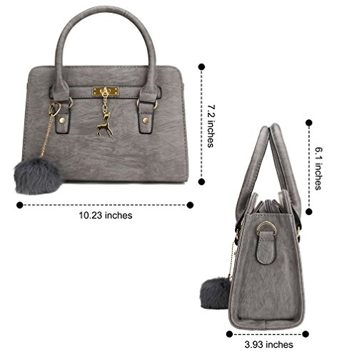 femme femme sac mian shopping en sac portés femmes cuir à Honeymall Sac main à épaule Gris bandoulière sac qxwtSFnPRO