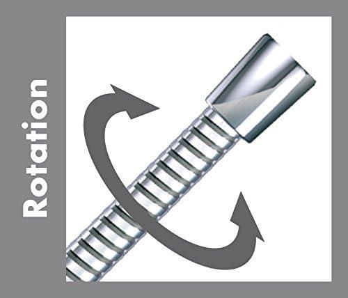 Hansgrohe Flexible de Douche en Acier Inox Anti-Torsion et Anti-Pliure Sensoflex 2,00m Chrome 28134002