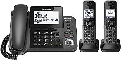 Panasonic KX-TGF382M DECT 6.0 Plus Corded / Cordless 2-Handset Landline Telephone System (Certified Refurbished)