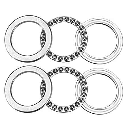 uxcell 51110 Single Direction Thrust Ball Bearings 50mm x 70mm x 14mm Chrome Steel Pack of 2
