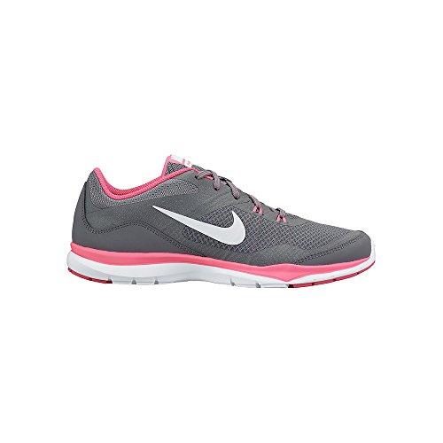 nike-womens-flex-trainer-5-cool-grey-white-pnk-pw-drk-gry-training-shoe-9-women-us