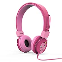MoKo Kids Headphones, Over Ear Headphones Volume Limited Wired (1.5m / 4.9ft) Headset with SharePort for Children, Fit LeapFrog, Orbo Jr, Galaxy Tab, Dragon Touch Tablets, Smartphones, Laptop, MAGENTA