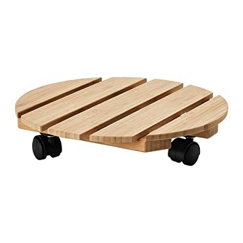 Ikea Vildapel Pflanzenrollwagen Aus Bambus Amazon De Kuche Haushalt