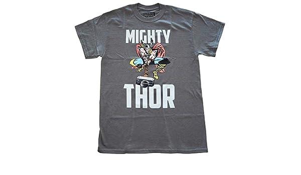 c905b45c Amazon.com: Marvel Mighty Thor Hammer Time Mens T-Shirt Grey: Clothing