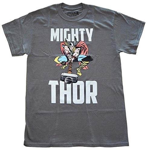 - Marvel Mighty Thor Hammer Time Mens T-Shirt (XX-Large) Grey