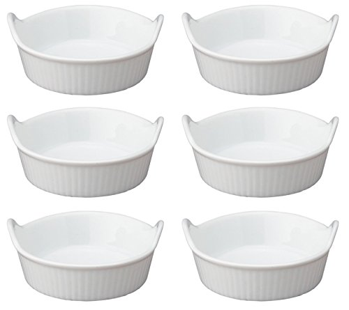 HIC Harold Import Co. 98028-6 HIC Porcelain Mini-Eared 1-Ounce Ramekin, Set of 6