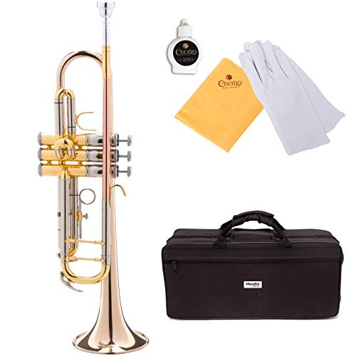 Mendini MTT-40 Intermediate/Advanced Double-Braced Bb Trumpet