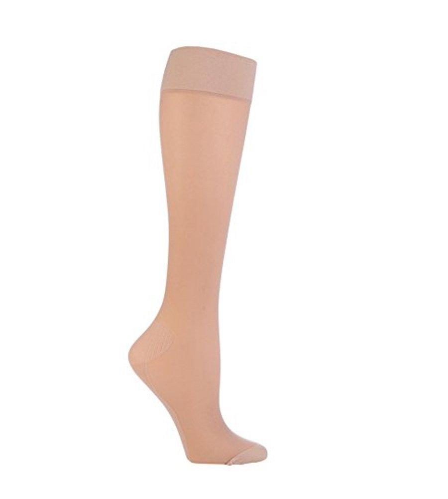 IOMI - 1 paia donna 18mmhg compressione graduata calze di aereo viaggio per trombosi Beige)