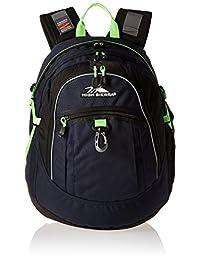 High Sierra 64020-4966 Fat Boy Backpack, Midnight Blue/Black/Lime, International Carry-On