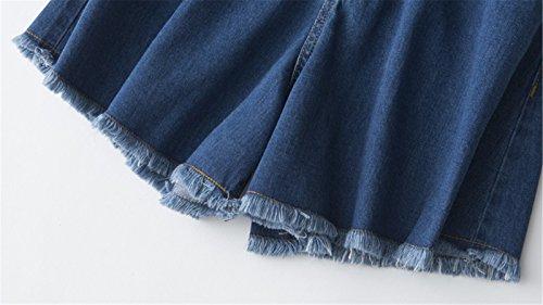 Vita shorts Pantaloni Alta donna Jeans Smx Mendicante Vintage Cowboy Le Signore allentata Jeans blue Dark Shorts Shorts per Sexy JeansIl Pants Distressed Denim Pantaloni Hot ZaqHF