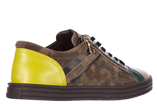 Hogan Rebel scarpe sneakers donna in pelle nuove rebel r141 marrone