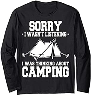 Funny Camping  Gift for Camper And Camping Lover Gifts Long Sleeve T-shirt   Size S - 5XL