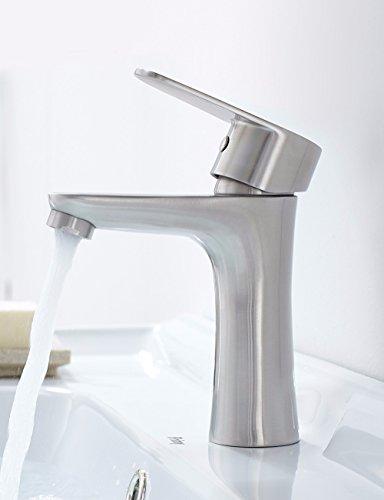 SJQKA-Faucet Hot and cold wash basin faucet, 304 stainless steel bathroom, washbasin, bottom basin faucet by SJQKA