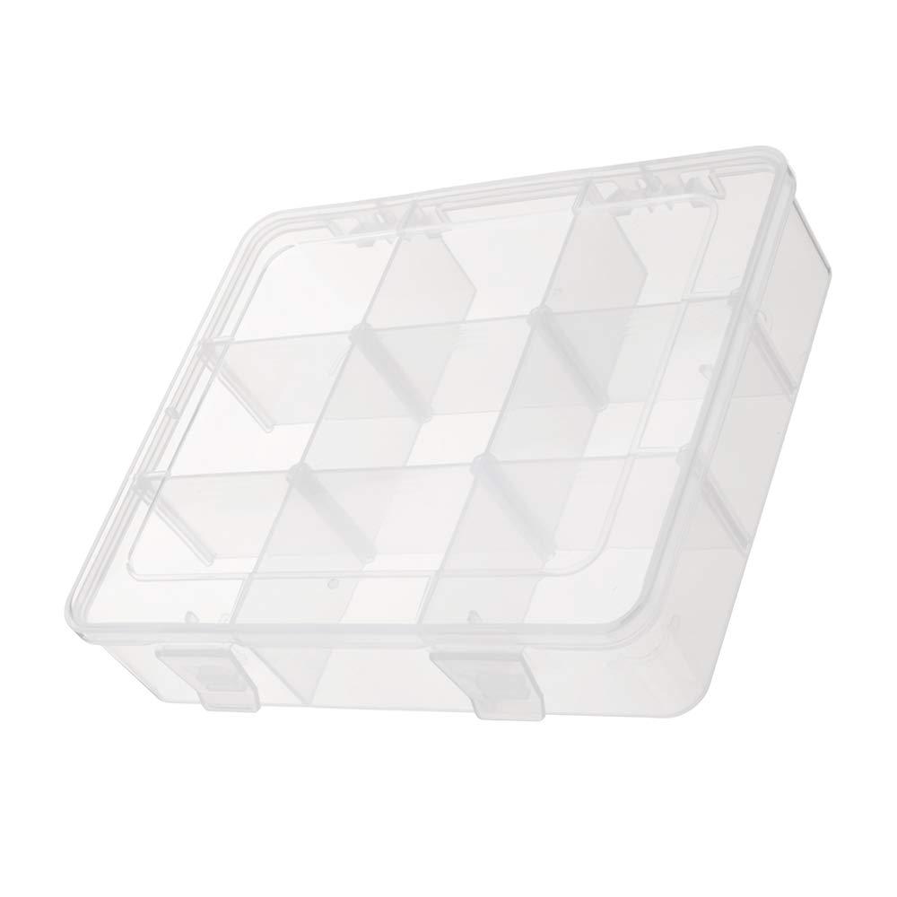 Tool Organizers EKB-209 9 Slots Multifunction Adjustable Little Parts Storage Box for Screw Smartphone NAND IC Chip BGA Repair Kit