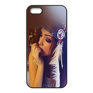 iPhone 5 5S Phone Case Black Hf Melanie Iglesias Sexy Indian Costume Model IM6C5CHH Lunatic Phone Case