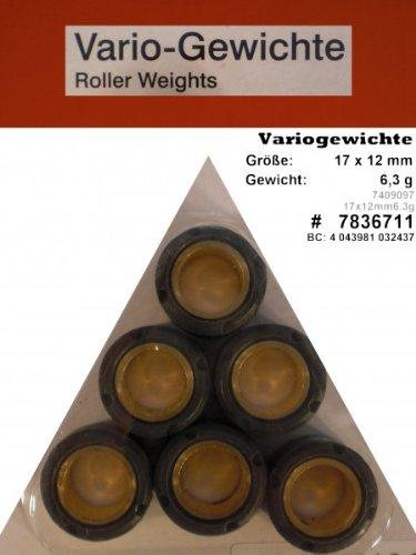 Variomatik Rollen Gewichte 17x12 6 3 gr f/ür Roller Pegasus R50X 50ccm