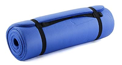 ProSource Premium 1/2-Inch Extra Thick 71-Inch Long High Density Exercise Yoga Mat with Comfort Foam and Carrying Case by ProSource
