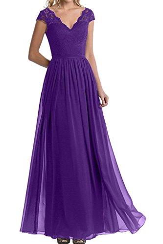 Braut Rock Spitze Promkleider Abendkleider mia Chiffon Festlichkleider Linie Abschlussballkleider Herrlich La Abiballkleider Blau Lila A Cq5IOxwOU