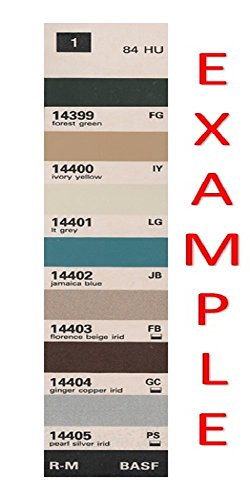 Chrysler Import - 1986 CHRYSLER IMPORTS BASF COLOR CHIPS & PAINT CODE CHART