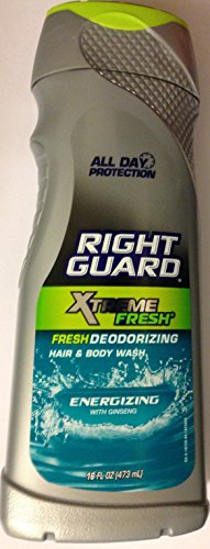 Right Guard Hair & Body Wash - Xtreme frais - Energizing Avec Ginseng - Poids net. 16 FL OZ (473 mL) Chaque - Lot de 2