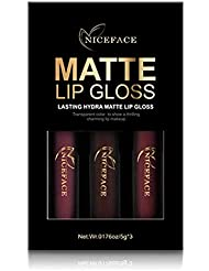 Wumedy 3 Colors Lasting Waterproof Liquid Lipstick Matte Lip Gloss Set Cosmetic Lip Glosses