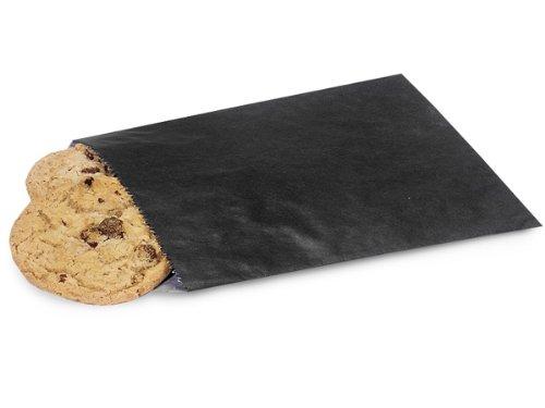 BULK 1/2 lb BLACK Paper Candy Bags5-3/4 x 7-1/2'' (1 unit, 1000 pack per unit.)