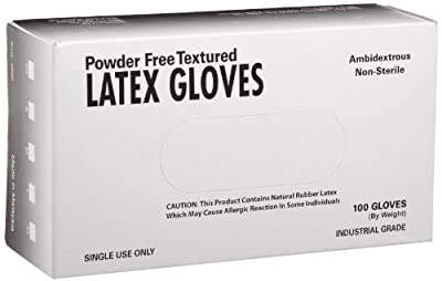 West Chester 2800 PosiShield Examination Grade Disposable Latex Gloves, 4 mil, Powder Free: White, Box of 100