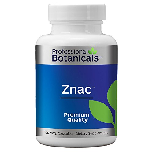 Professional Botanicals ZNAC - Highly Absorbable Zinc Supplement to Support Immune Function, Healthy Metabolism and Prostate Health - 90 Vegetarian -