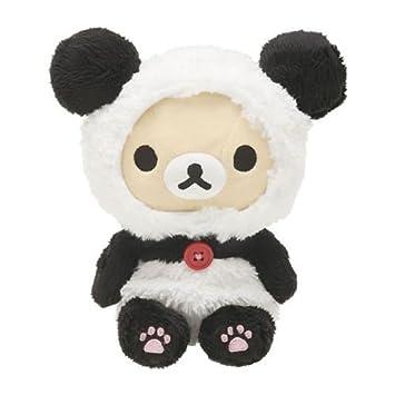 Muñeco peluche kawaii oso blanco Rilakkuma panda disfraz