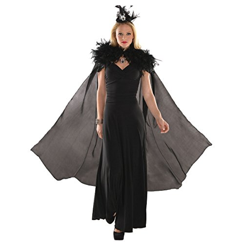 Feather Cape Costume (Feather Witch Cape Costume Accessory)