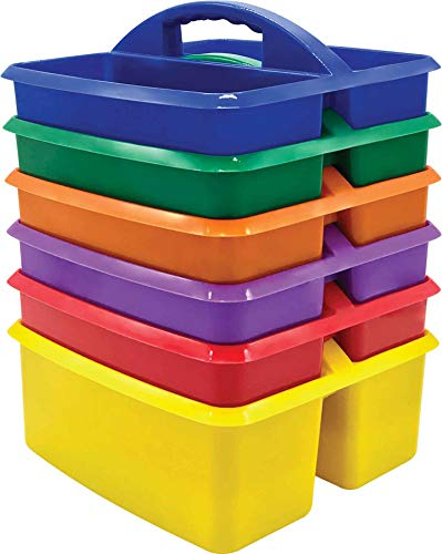 Teacher Created Resources Primary Colors Plastic Storage Caddies – 6 Pack, Model Number: TCR32219