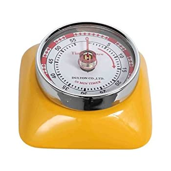 Magnetic 55 Minute Kitchen Timer Square   Yellow