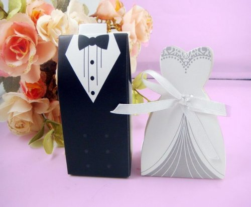 Wedding Gift Box Dubai : Dress Groom Bridal Wedding Party Favor Boxes Ribbon Box Candy Gift ...
