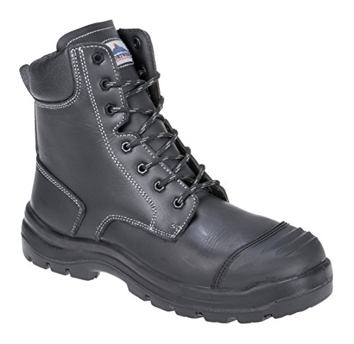 Portwest fd15bkr45Eden S3HRO CI HI fo SRC seguridad Boot, Regular, tamaño: 45, negro
