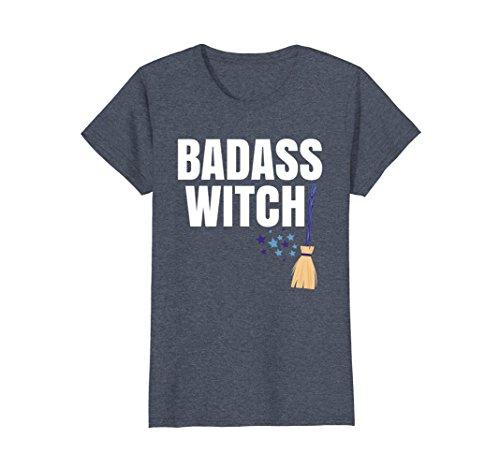 Womens CUTE: Badass Witch Halloween Costume Shirt Women Outfit Idea XL Heather Blue - Halloween Costume 90's Ideas