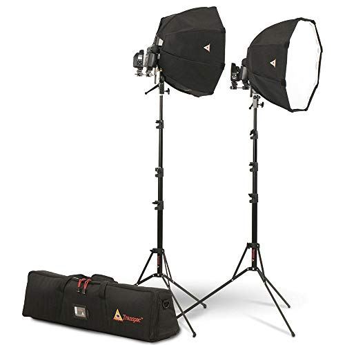 Photoflex Portable Speedlite Kit, Includes 2 OctoDome XS Softbox, 2 Speed Ring, 2 Shoe Mount Connector, 2 LiteStand, 2 Swivel Mount with Stud and Bag